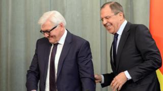 Франк-Вальтер Штайнмайер и Сергей Лавров
