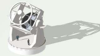 Computer generated image of planned telescope