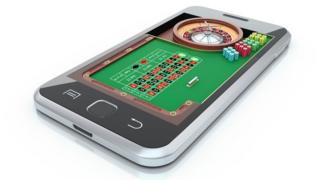 Roulette wheel on smartphone
