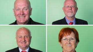 Derek Milligan (top left) is the new leader