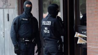 German special police team, file pic