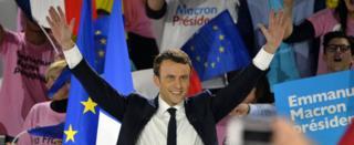 Emmanuel Macron en un mitin