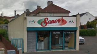 Senor's Fish and Chip shop on Bellsdyke Road, Airdrie