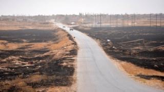 Road along the Iraq-Syria border (file photo)