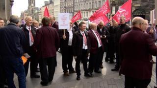 Unite Lothian Buses protest