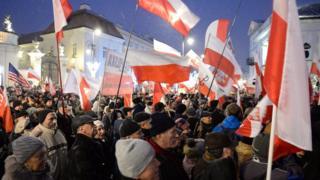 Polonya'da protesto