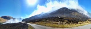 Wildfire at Glen Etive