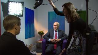 David Cornock interviewing Sir Vince Cable