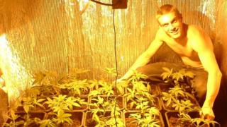 A photograph of Maxwell posing with cannabis, recovered from one of his memory cards