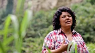 Berta Caceres, January 2015, in the Intibuca department of Honduras