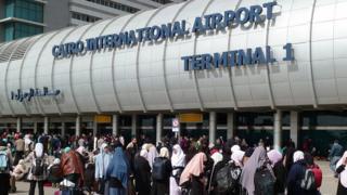 L'aéroport du Caire où Me Ibrahim Metwally a été arrêté dimanche (illustration)