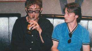 Damon Albarn and Robert Carlyle, who both featured in the British crime drama Face in 1997