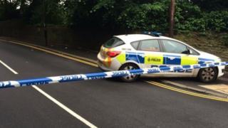 Police car in Fulwood Raod Sheffield