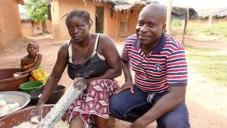 George Koffi Kouame and wife Janine Aya Allini