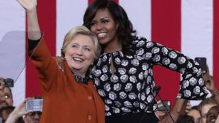 Michelle and Hillary
