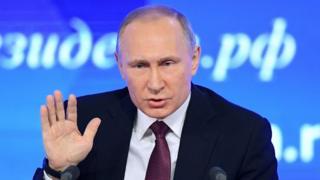俄國總統普京在年終記者會上答覆記者提問
