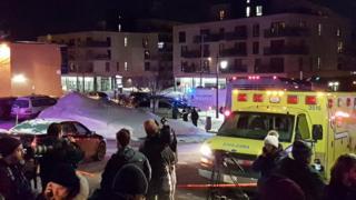 警察によると銃撃で6人が死亡、8人が負傷した