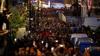 İstanbul'da düzenlenen protesto