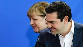 Angela Merkel ve Aleksis Çipras