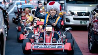 A motorised go-kart tour in Tokyo