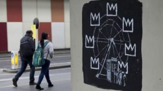 Banksy's Ferris Wheel mural