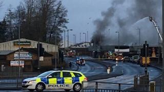 Greenock factory fire
