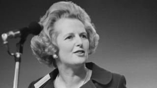 Margaret Thatcher speaks at Conservative Party conference in 1971