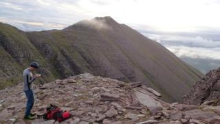 Dundonnell MRT member during Tuesday's search