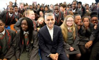 Sadiq Khan launches his Police and Crime Plan at Brixton's City Heights Academy