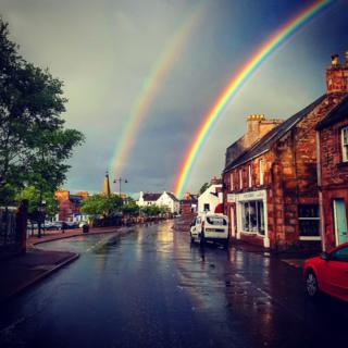 Double rainbow in Beauly