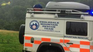 A mountain rescue team was called to assist
