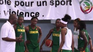 Juillet 2016 - Dakar - L'équipe du Sénégal de basket-ball féminin s'entraîne pour les Jeux olympiques de Rio de Janeiro