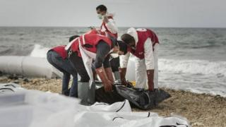 The bodies of 87 migrants and refugees have washed ashore in the western Libyan city of Zawiya