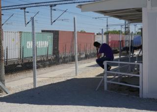 Train siding next to Tabanovce camp