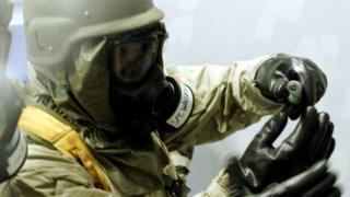 Arşiv fotoğrafı: ABD askeri kimyasal silah eğitiminde