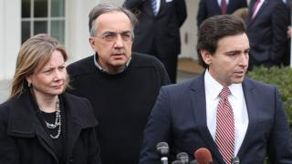 L-to-R: Mary Barra, Sergio Marchionne, Mark Fields