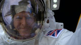 A selfie by Tim Peake while on board the International Space Station