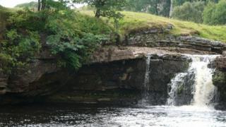 Wain Wath waterfall in Swaledale