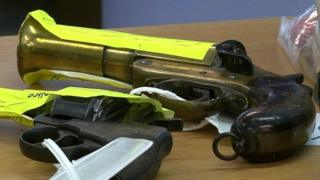 Pistols handed in