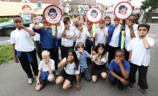 Pupils from Bowes Primary School in Enfield, north London,