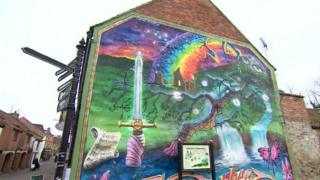 Glastonbury mural