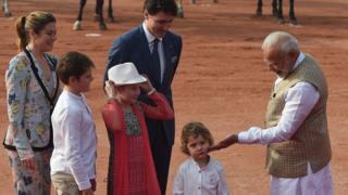 Hadrien Trudeau meeting Narendra Modi