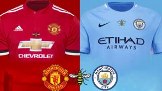 Worker bee shirts that Manchester City and Manchester United players will wear