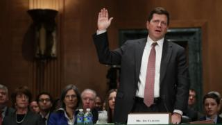 SEC Chair Jay Clayton during a confirmation hearing This specific spring
