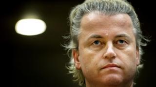 Geert Wilders tekli fotoğraf