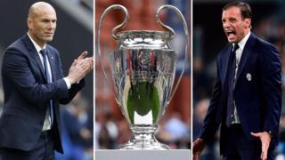 Zinedine Zidane iyo Massimiliano Allegri