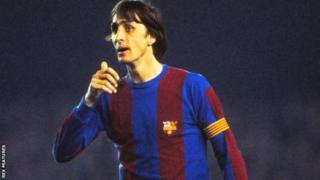 Cruyff wuxu kooxda Barca u horseeday guushii ugu ay ku hanteen horyaalka dalka Spain muddo 14 sanadood ah gudahood sanadkii 1973