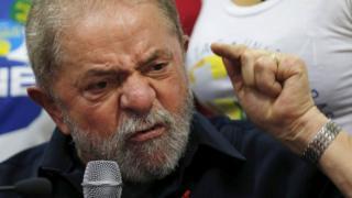 Former Brazilian President Luiz Inacio Lula da Silva in press conference in Sao Paulo
