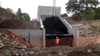 Hydro scheme component lowered into place