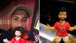 Mohamed Gamal Mohamed shows off his Mo Salah Ramadan lanterns
